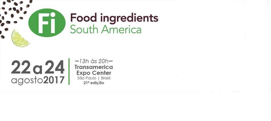Food ingredients South America 2017, principal encontro da indústria de ingredientes alimentícios na América Latina, acontecerá de 22 a 24 de agosto